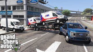 GTA 5 Real Life Mod #141 Ford Dealership Converting & Delivering Ford Transit Ambulances