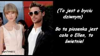 Taylor Swift ft. Zac Efron - Pumped Up Kicks (wersja Ellen w The Ellen Show) (tłumaczenie pl)