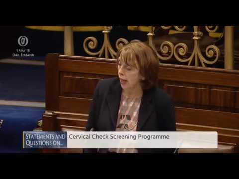 Róisín Shortall TD questions Minister for Health Simon Harris on the Cervical Check scandal