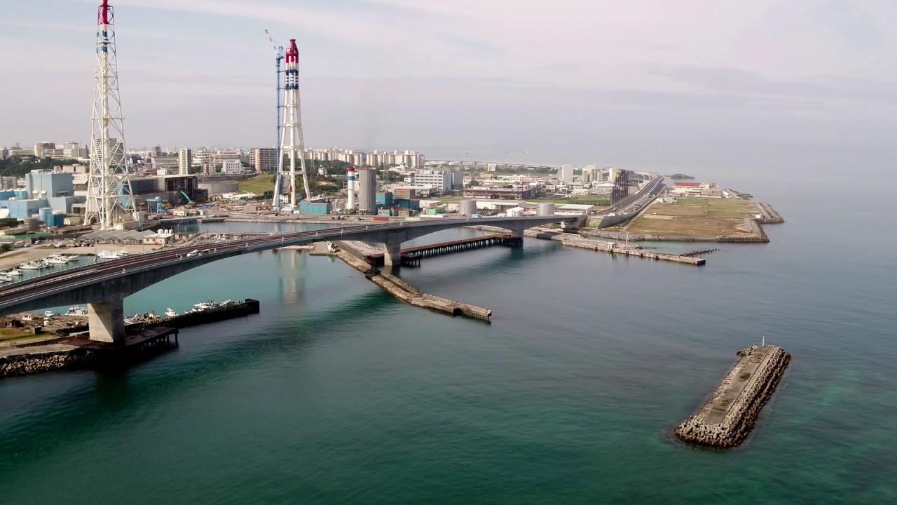 4K] 浦添北道路・牧港高架橋 沖...