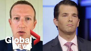 Mark Zuckerberg questioned on Facebook's decision to