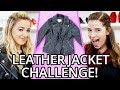 LEATHER JACKET Outfit Challenge?! w/ Chloe Lukasiak & Marissa Rachel