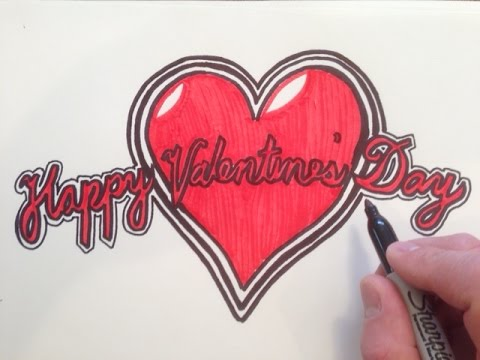 Perfekt How To Draw Happy Valentineu0027s Day In Cursive   YouTube