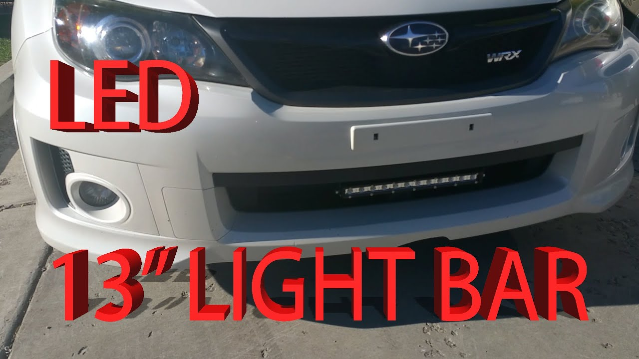 Subaru Impreza WRX LED 13 inch lightbar install video - YouTube