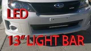 Subaru Impreza Wrx Led 13 Inch Lightbar Install Video