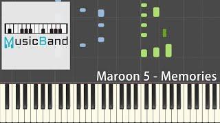 [琴譜版] Maroon 5 - Memories - Piano Tutorial [HQ] Synthesia