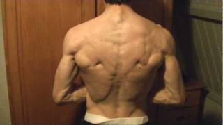 Lean ripped guy shows 10pack,back,pecs and................