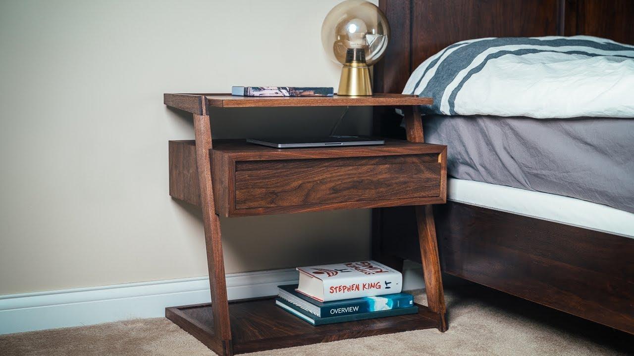 Diy Modern Nightstand Bedside Table