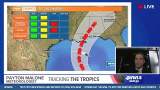Sunday 10 am Tropical Update: Zeta expected to reach Gulf Coast by Wednesday