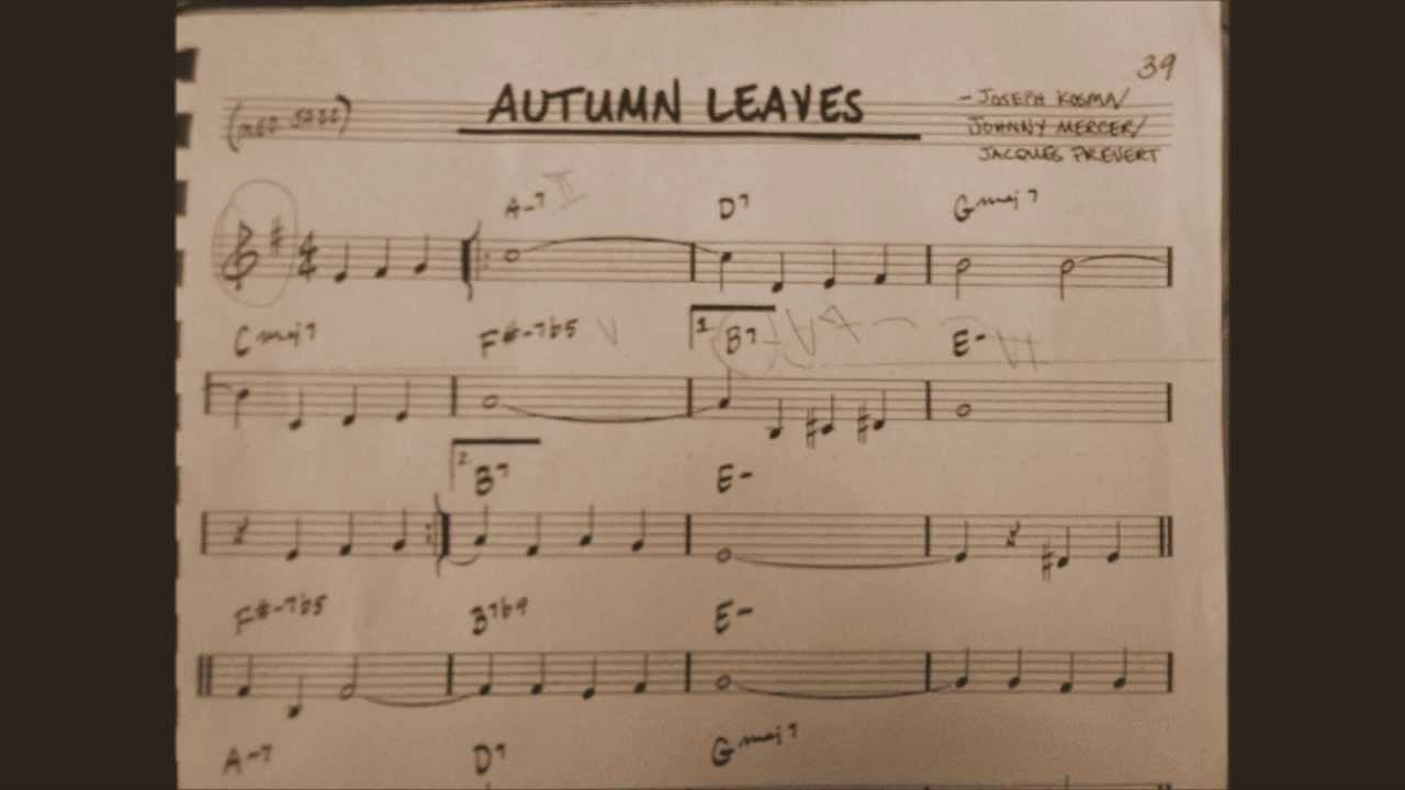 Autumn Leaves (Med  Jazz) Piano Version