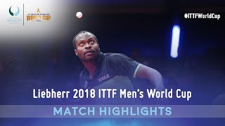 Aruna Quadri vs Kanak Jha I 2018 ITTF Men's World Cup Highlights (Group)