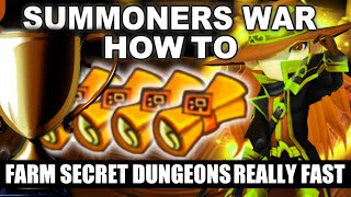 Summoners War - How to farm Secret Dungeons [SD] Really Fast! (Speed Run)