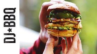Halloumi & smashed avocado burger - B & Q Open Garden Party -ad