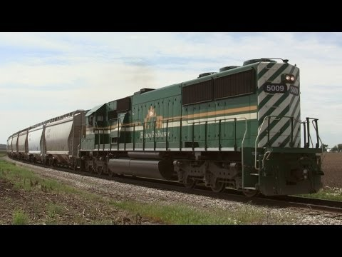 Hudson Bay Railway 5009, Long Hood Forward, on 5-16-2013