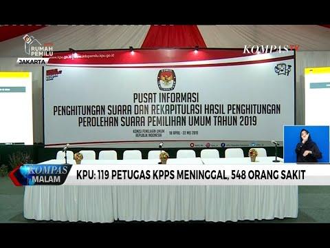 KPU: 119 Petugas KPPS Meninggal, 548 Orang Sakit