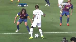 Neymar humilha Puyol (Santos X Barcelona)-Neymar in the beautiful dribbling Puyol