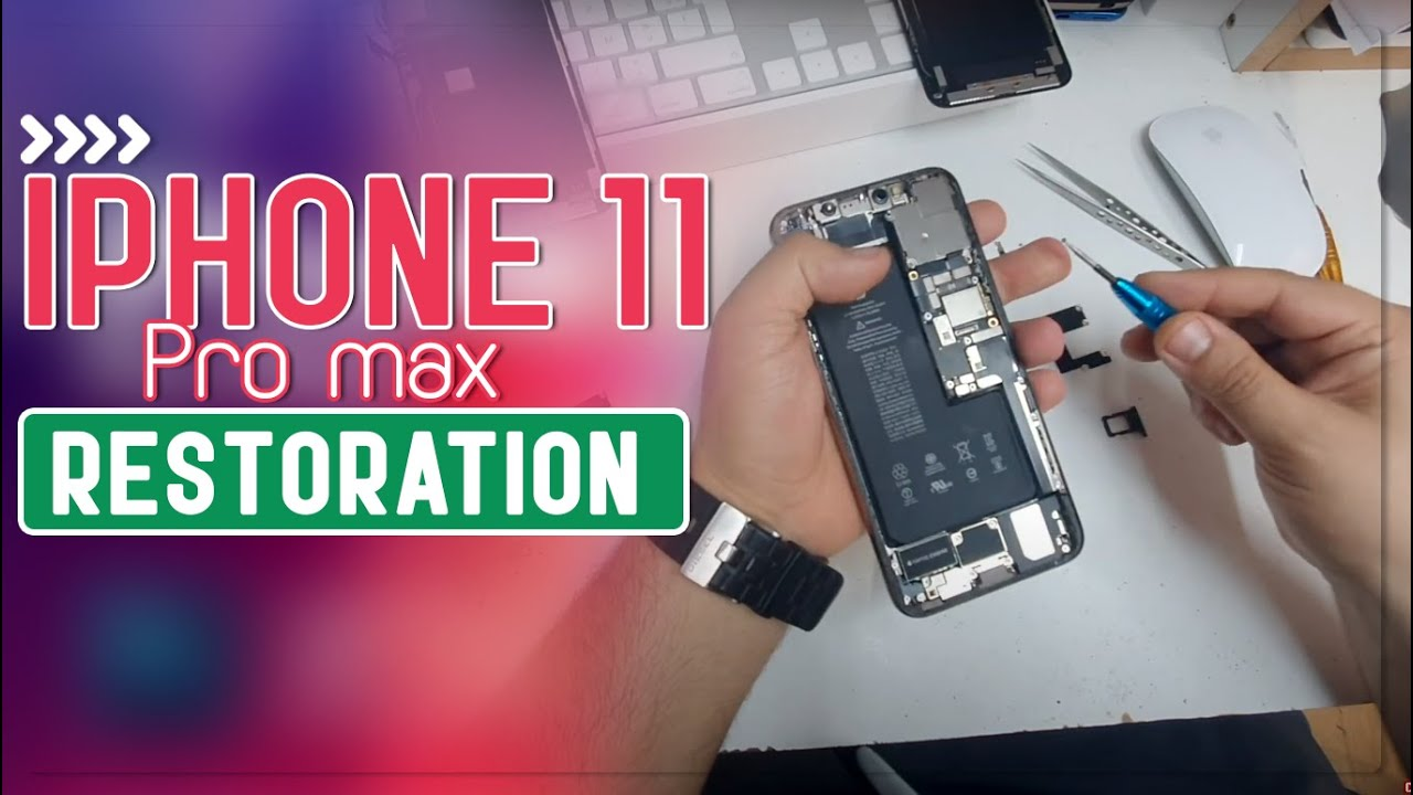 iPhone 11 Pro Max Restoration ... Midnight Green To Gold