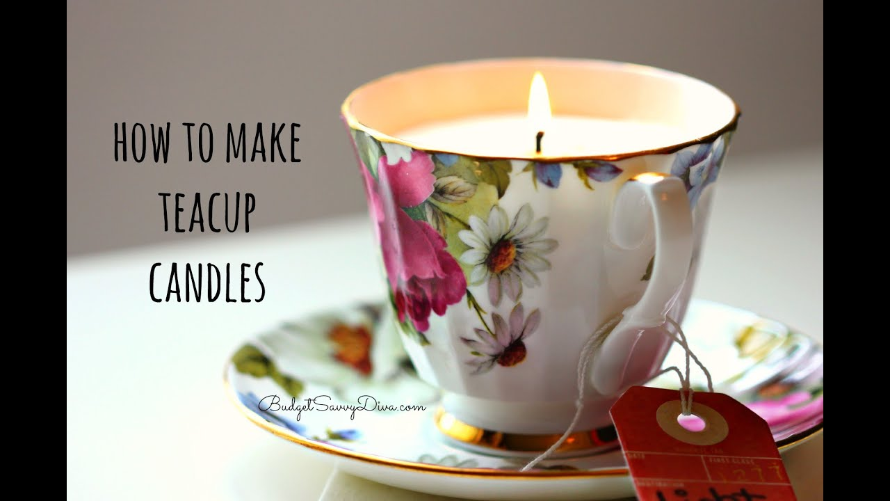 How to make a teacup candle youtube for How to make candle sticks