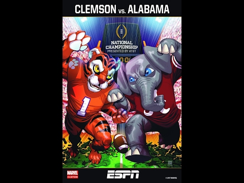 2016 National Championship Clemson vs  Alabama with Clemson