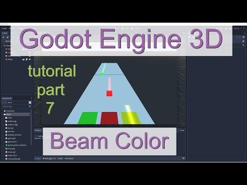 Godot Engine 3D Rhythm Based Game Tutorial / Part 7 - Beam color thumbnail