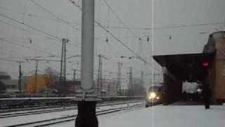 Скоростной поезд Сапсан прибывает на станцию Тверь(Видео снято 20.12.09., 2009-12-20T14:19:37.000Z)