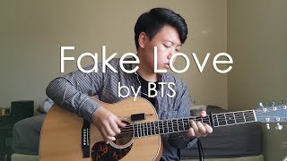 Gambar cover (BTS) Fake Love - [Free Tabs] Fingerstyle Guitar Cover