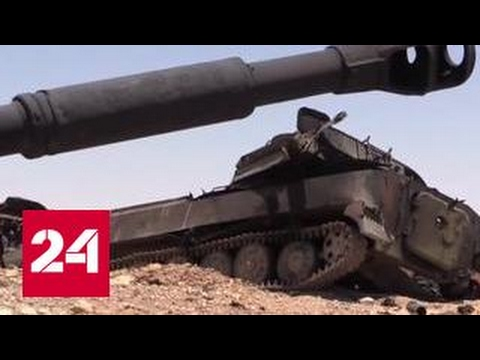 Авианалет коалиции в Сирии. Эксклюзивные кадры в репортаже Евгения Поддубного - Смотреть видео онлайн