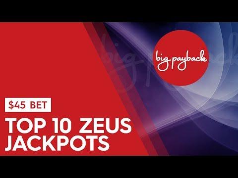 TOP 10 ZEUS JACKPOTS - $45 Max Bets - High Limit Slots!