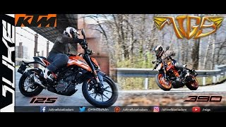 KTM DUKE 125 & DUKE 390 VERY NICE LOOKING AND DELICIOUS BIKES