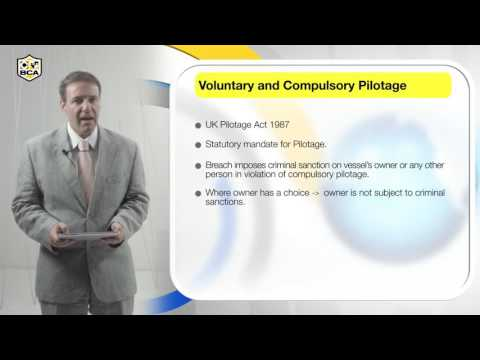 Voluntary and Compulsory Pilotage