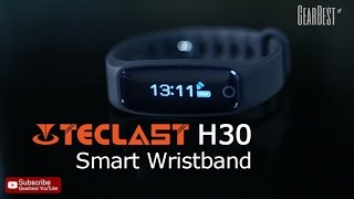 teclast h30 heart rate monitor smart wristband gearbest com