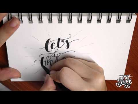 hand lettering tutorial lettering tutorial 1 let 39 s do this 22076 | hqdefault