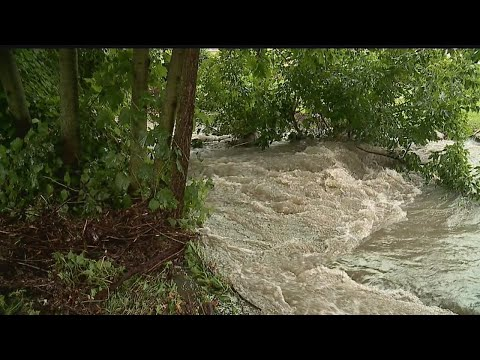 Heavy rain in Struthers causes creek overflow, flooding at high school