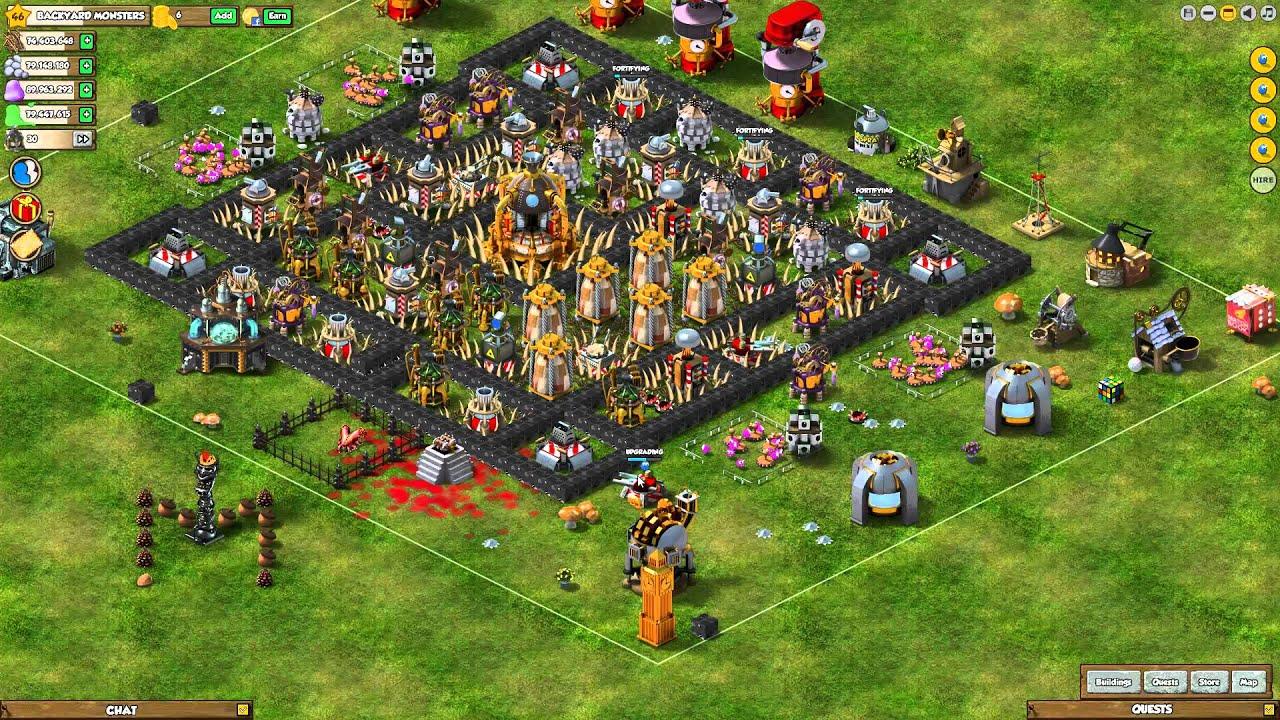 Backyard Monsters Online Yard Planner