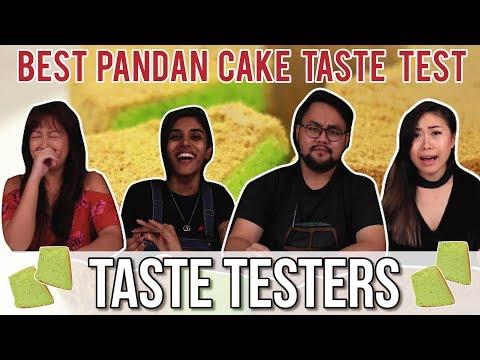 BEST PANDAN CHIFFON CAKE IN SG   Taste Testers   EP 45