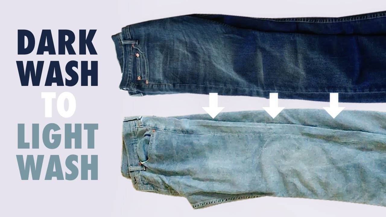 bbbab044e Dark Wash Jeans to Light Wash Jeans - How to Bleach Denim - YouTube