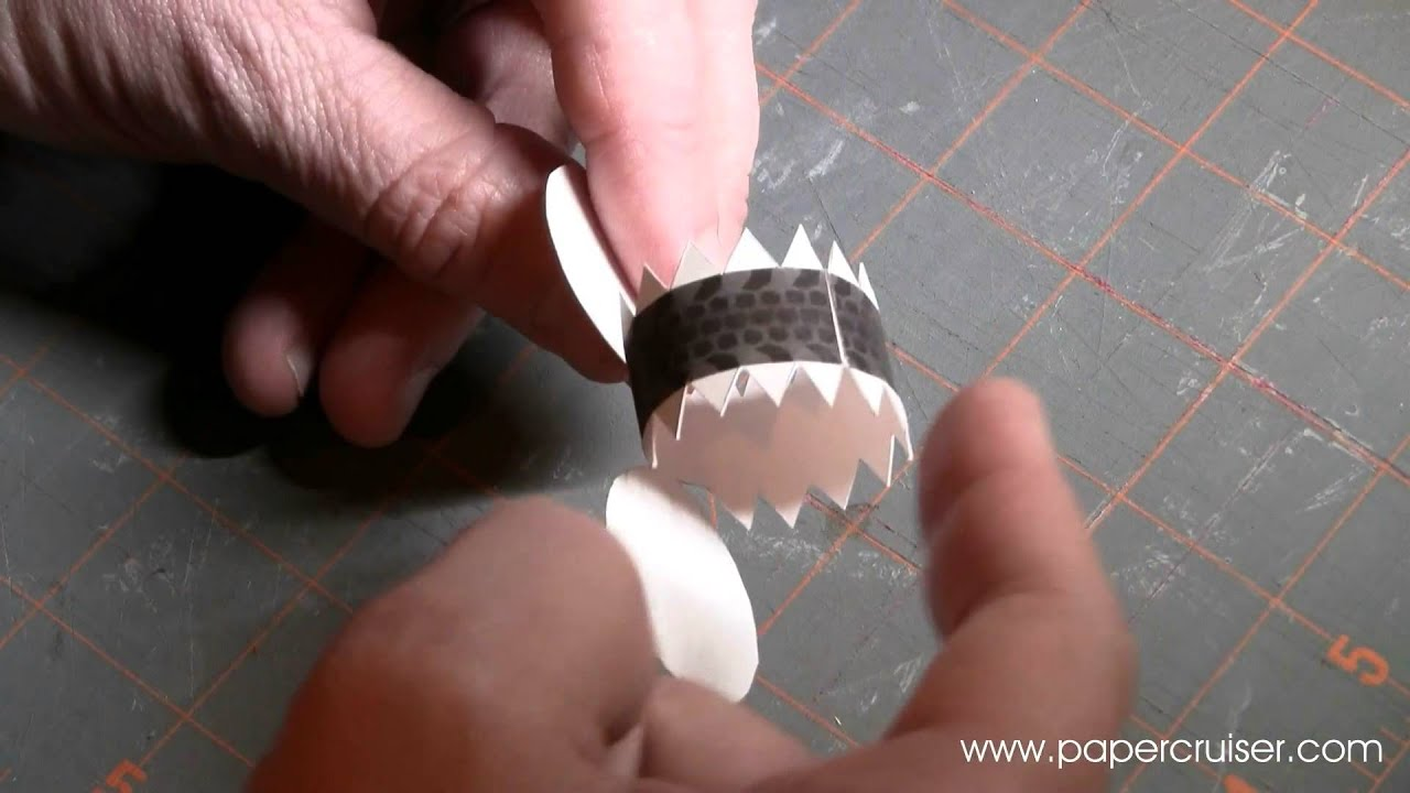 Paper Model Tutorial How To Make A 3d Wheel Youtube