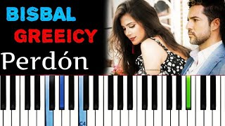 David Bisbal, Greeicy - Perdón | Piano Tutorial Cover
