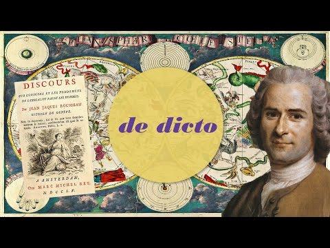 Rousseau - Discours sur l'origine et les fondements de l'inégalité parmi les hommes - De Dicto #5