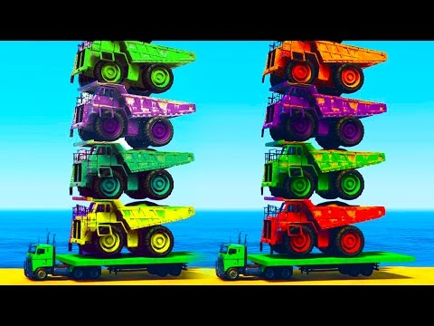 Thumbnail: Fun Color Truck on Cars with Spiderman Cartoon Videos for Kids - Learn Colours for Children