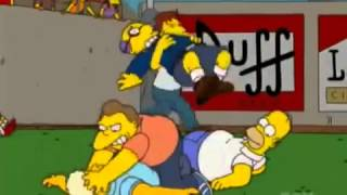 The Simpsons - The Bart of war fight
