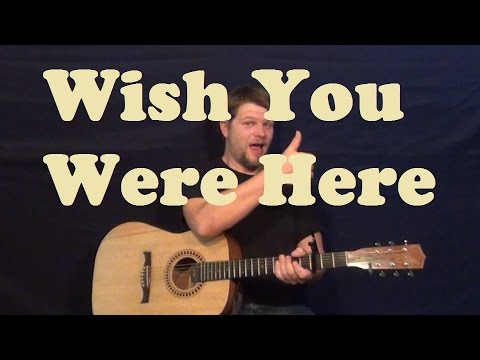 Wish You Were Here Pink Floyd Guitar Lesson Easy Strum Chords How