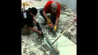 vinyl tile removal!