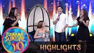 Banana Sundae: Angge is surprised when she sees her non showbiz friends sing for her