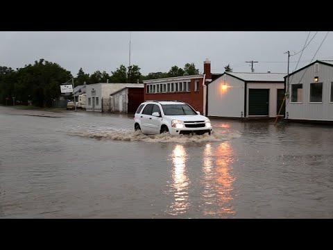 Flooding in Downtown Swift Current