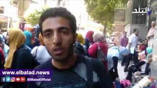 بالفيديو.. طلاب التمريض يتظاهرون للمطالبة بإلغاء التوزيع الإقليمي