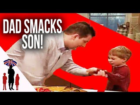Dad loses control and smacks son | Supernanny