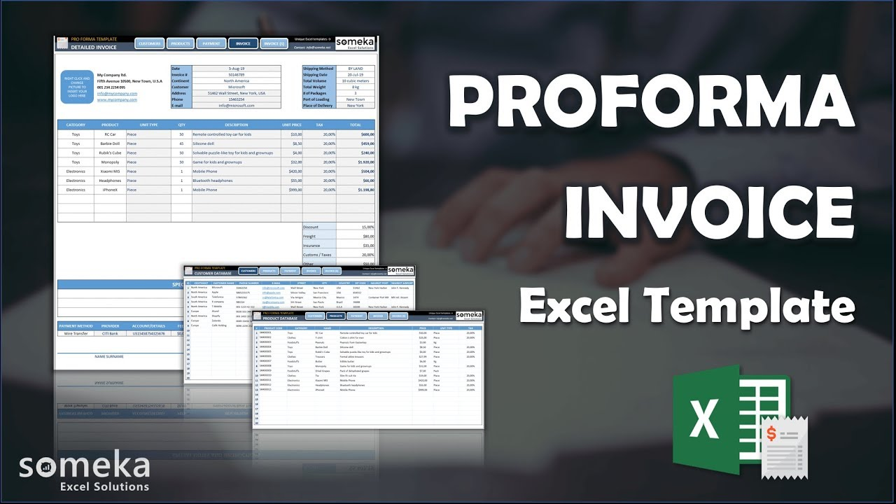Proforma Invoice Template How To Create Proforma In Excel