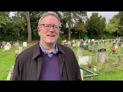 Bishop Barron at the Grave of J.R.R. Tolkien