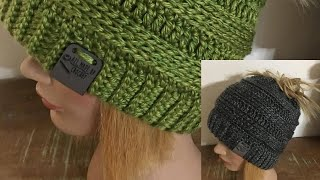 CC COPY CAT BUN BEANIE BY Tonia Hart